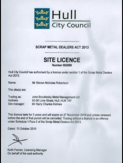 HCC Site Licence